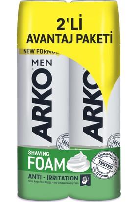 Arko Men Anti Irritation Tıraş Köpüğü 2'li Avantaj Paketi (2x200 ml)