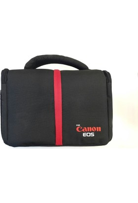Canon Baskılı Kare Fotoğraf Makinesi Çantası