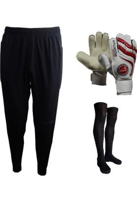 Evox Fit Kesim Kaleci Pantolonu,White Kaleci Eldiveni,Profesyonel Futbol Çorabı Set