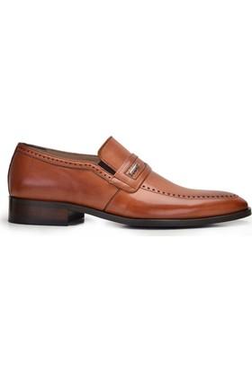 Nevzat Onay Bağcıksız Safran Rengi Kösele Deri Erkek Ayakkabı