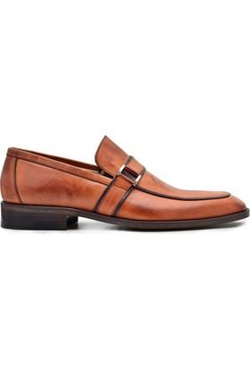 Nevzat Onay Tokalı Safran Rengi Deri Kösele Erkek Ayakkabı