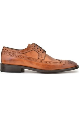 Nevzat Onay Bağcıklı Safran Deri Kösele Erkek Ayakkabı