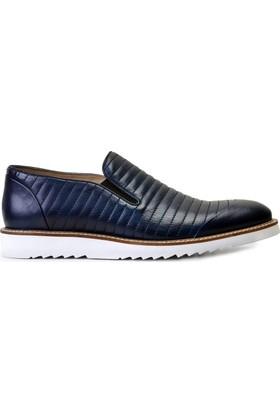 Nevzat Onay Lacivert Antik (Beyaz Exl) Erkek Ayakkabı