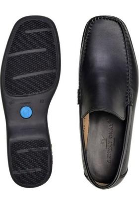 Nevzat Onay Erkek Bağcıksız Siyah Günlük Deri Ayakkabı