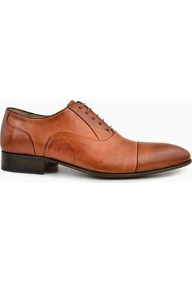 Nevzat Onay Bağcıklı Safran Rengi Deri Kösele Erkek Ayakkabı
