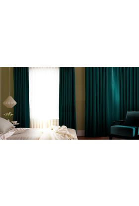 Evsa Home Blackout Karartma Güneşlik Perde Pilesiz V - 10 Turkuaz - 100x240 cm