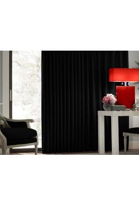 Evsa Home Blackout Karartma Güneşlik Perde Pilesiz V - 5 Siyah - 100x210 cm