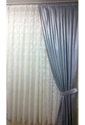 Evsa Home Blackout Karartma Güneşlik Perde Pilesiz V - 5 Gümüş - 100x230 cm