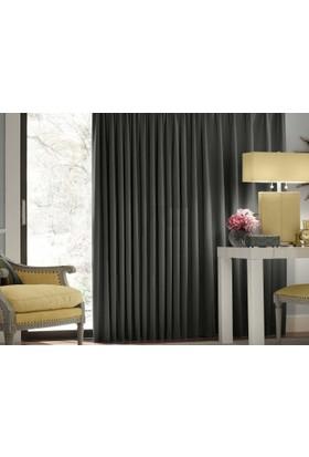 Evsa Home Blackout Karartma Güneşlik Perde Pilesiz V - 6 Koyu Gri - 100x210 cm