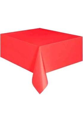 Brode Tek Kullanımlık Plastik Masa Örtüsü Kırmızı 120 cm * 180 cm