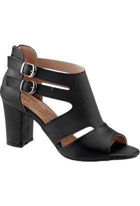 Ayakland 811-51 Siyah Bayan Sandalet Ayakkabı