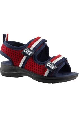 Gezer 10396 Kırmızı Günlük Yürüyüş Hafif Taban Erkek Çocuk Sandalet