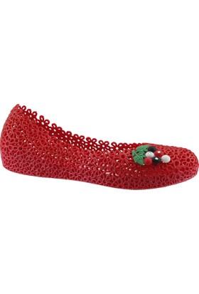 Muya 90475 Kırmızı Plaj Deniz Havuz Babet Bayan Deniz Ayakkabısı