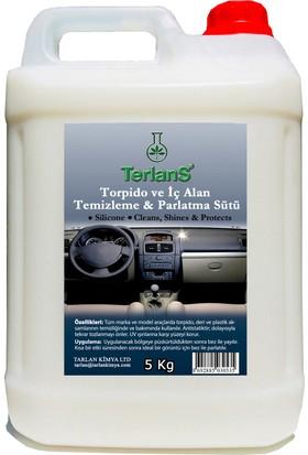 Terlans Parfümlü Torpido ve İç Alan Temizleme & Parlatma Sütü 5 Kg + Mikrofiber Bez Hediye