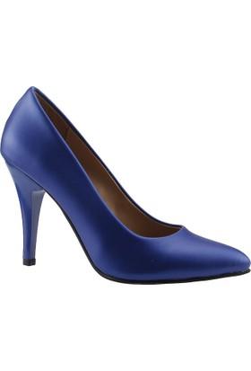 Ayakland 3 Saks Günlük Stiletto Bayan Cilt Ayakkabı