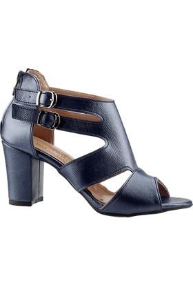 Ayakland 811-51 Lacivert Bayan Sandalet Ayakkabı