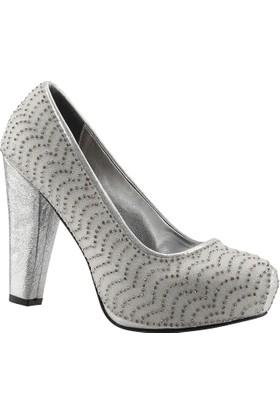 Ceylan 23 Gümüş Abiye Gelin Bayan Ayakkabı