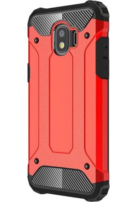 Microsonic Samsung Galaxy J4 Kılıf Rugged Armor Kırmızı