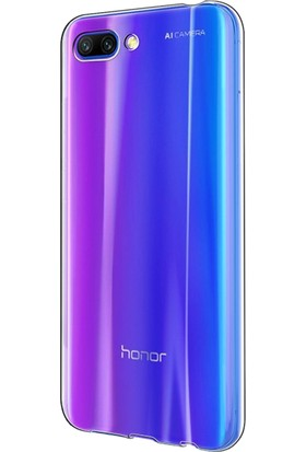 Microsonic Huawei Honor 10 Kılıf Transparent Soft Beyaz