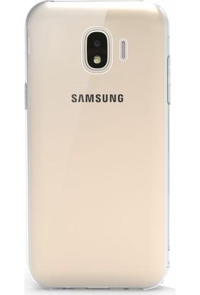 Microsonic Samsung Galaxy J4 Kılıf Transparent Soft Beyaz