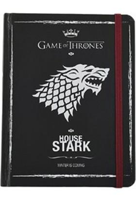 Game Of Thrones 12x16 cm,Sert Kapaklı,Lastikli,120 y. Defter