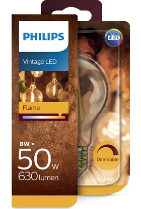 Philips LED Filament 48W 2000K Sarı Işık E27 Normal Duy Altın Renk Dim Edilebilir