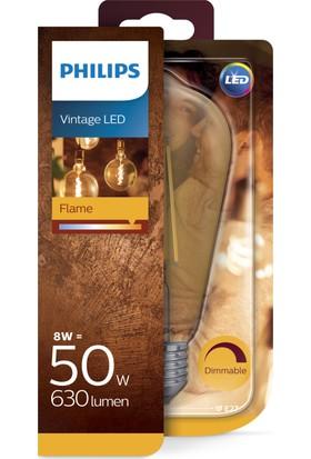 Philips LED Filament 50W 2000K Sarı Işık E27 Normal Duy Altın Renk Dim Edilebilir