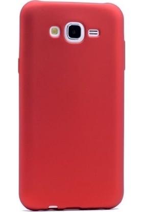 Syronix Samsung Galaxy J7 Duo Kılıf Ultra İnce Mat Silikon Kırmızı