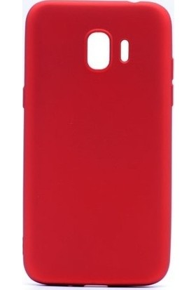 Syronix Samsung Galaxy J4 2018 Kılıf Ultra İnce Mat Silikon Kırmızı