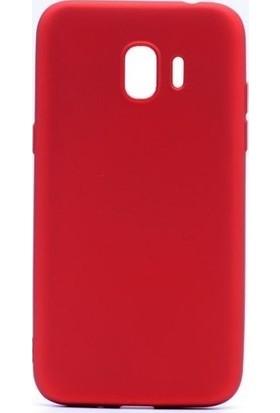 Syronix Samsung Galaxy J6 2018 Kılıf Ultra İnce Mat Silikon Kırmızı