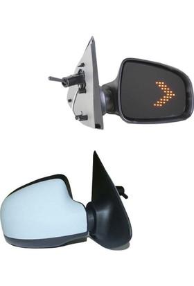 Gva Dacia Sandero Stepway Camdan Sinyalli Mekanik Sağ Yan Dikiz Aynası 2012 Üzeri Astarlı