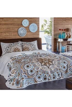 Yatsan Maison Yatak Örtüsü Mandala Tek Kisilik(170 x 240) Lacivert