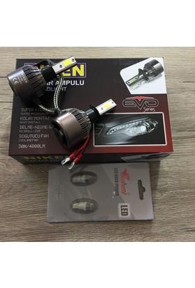 Niken Evo Serisi H1 Led Xenon 8000Lm + T10 Dipsiz Led Ampül