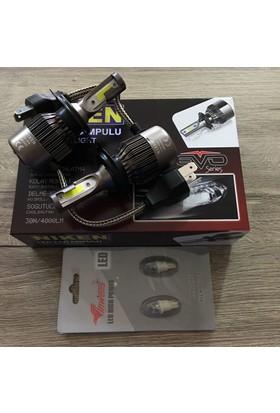 Niken Evo Serisi H4 Led Xenon 8000Lm + T10 Dipsiz Led Ampül