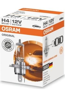 Osram H4 12V 60/55W Far Ampülü 2 Adet Alman Üretim