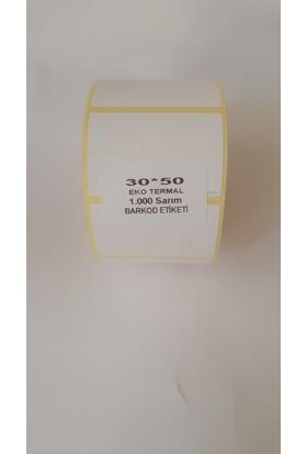 Özsaraç Etiket Barkod Etiketi Eko Termal 30X50