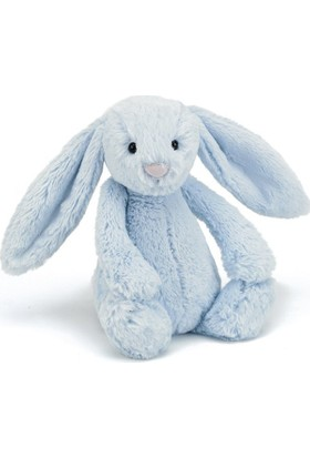 Jellycat Bashful Mavi Tavşan Orta Boy