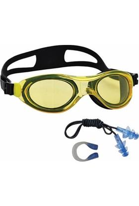 Voit Action Yüzücü Gözlüğü Sarı + Kulak Burun Tıkacı Seti
