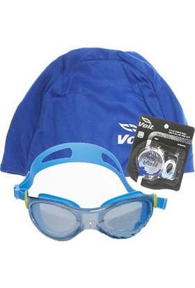 Voit Mısıle Yüzücü Gözlüğü Mavi +Voit Bone Mavi+Voit Kulak Burun Tıkacı Seti