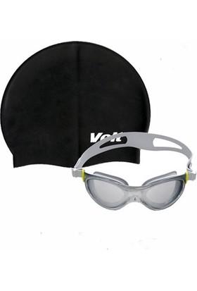Voit Misile Yüzücü Gözlüğü Siyah +Voit Bone Set Siyah