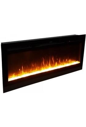 Ateşin Efendisi Elektrikli Şömine BOGE 10 Renkli Kristalli 114' lük Plazma