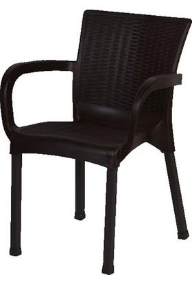 Comfort 80X140 Masa 6 Sandalye 6 Minder 1 Sehpa Rattan Takım