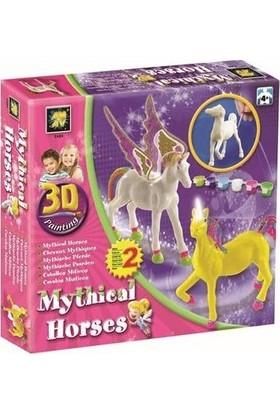 Amav 3D Boyama Mistik Atlar 2'li