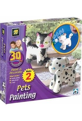 Amav 3D Boyama Kedi Ve Köpek