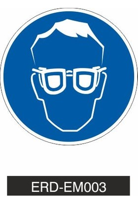 Erdal Etiket İş Gözlüğü Kullanınız - İş Güvenliği Levhası