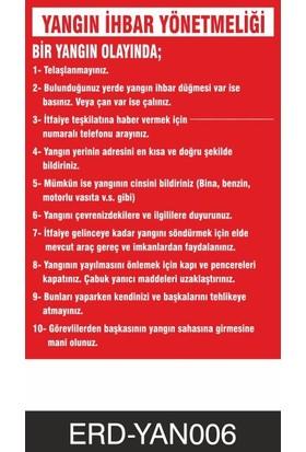 Yangın İhbar Yönetmeliği-Talimat - İş Güvenliği Levhası ( 35x50 cm PVC MALZEME )
