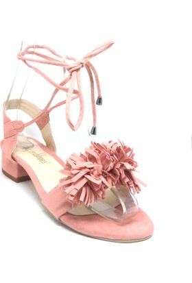 Shop And Shoes 127-7300 Kadın Sandalet Pudra Süet