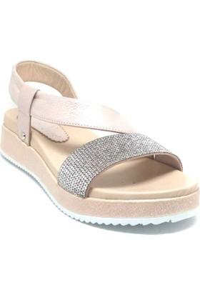 Shop And Shoes 039-716 Kadın Sandalet Pudra