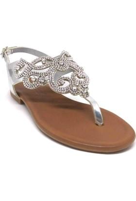 Shop And Shoes 117-176 Kadın Sandalet Gümüş