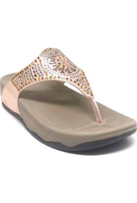 Shop And Shoes 117-63 Kadın Terlik Altın